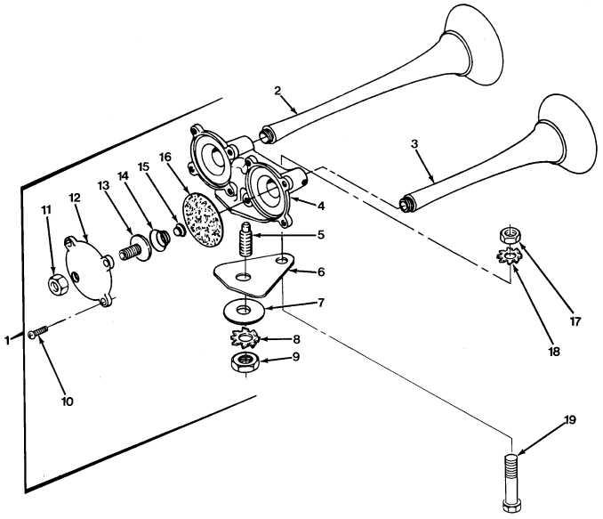 Fig 391 Air Horn And Valve Sheet 1 Of 2 Tm 9 2320 279
