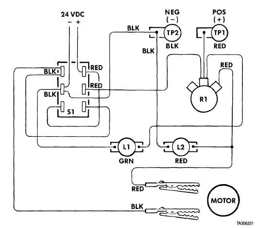 Figure 2-8. 12V Electric Motor Tester Circuit Wiring Diagram (M983).