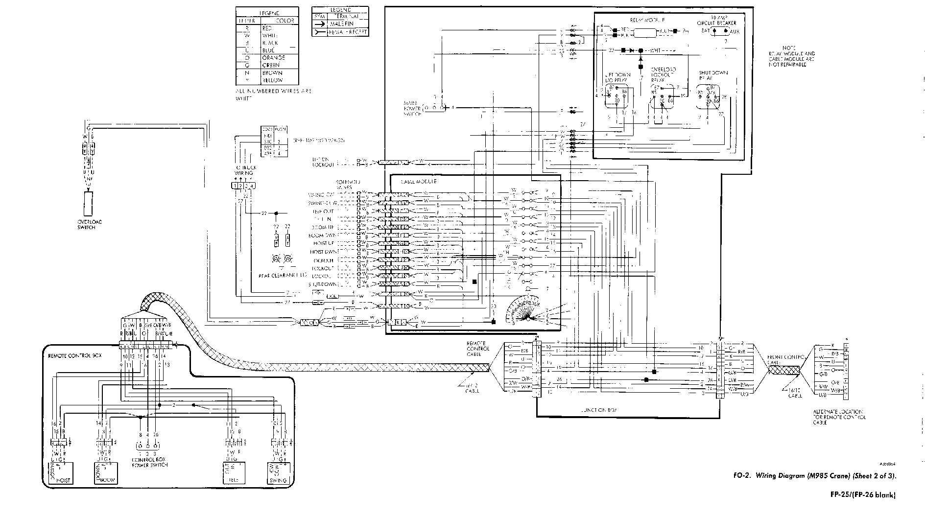 fo 2 wiring diagram m985 crane sheet 2 of 3